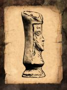 Parchment Posters - Chess Queen Poster by Tom Mc Nemar