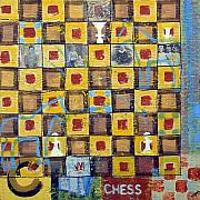 Chess Mixed Media Posters - Chess Small 3 Poster by Judy Anderson