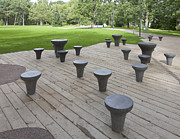 Park Benches Prints - Chess Tables at a Park Print by Jaak Nilson