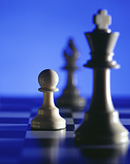 Strategy Photo Posters - Chess Poster by Tony Cordoza