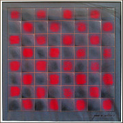 Game Pastels Framed Prints - Chessboard 1982 Framed Print by Glenn Bautista