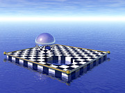 Chess Digital Art Posters - Chessboard Poster by Nicholas Burningham