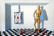 Chess Men Paintings - ChessGame by Susan Frazier