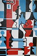 Chessmen Painting Prints - Chessmen Print by Nicholas Martori