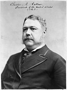 Chester Framed Prints - Chester A. Arthur, President Framed Print by Everett