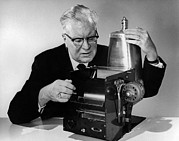 Photocopy Prints - Chester Carlson 1906-1968 Print by Everett