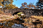 Bow Bridge Digital Art Prints - Chester County Bow Bridge Print by Bill Cannon