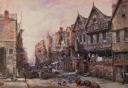 Old Village Paintings - Chester by Louise J Rayner