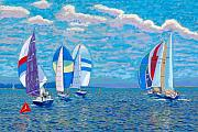 Atlantic Ocean Pastels Metal Prints - Chester Race Week 2009 Metal Print by Rae  Smith PSC