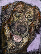 Dog Prints - Chester the Dog Print by Robert Goudreau