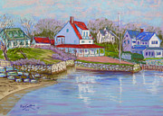 Club Pastels Framed Prints - Chester Yacht Club in December 2011 Framed Print by Rae  Smith PSC