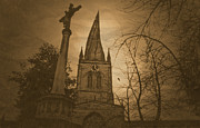 Derbyshire Cross Prints - Chesterfield Crooked Spire Print by Dave Parrott