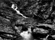 Ethereal Water Prints - Chesterfield Gorge- New Hampshire Print by Thomas Schoeller