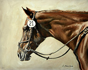 Sporting Art Originals - Chestnut by Carole Andreen-Harris