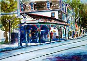 Philadelphia Painting Prints - Chestnut Hill Station Print by Joyce A Guariglia
