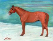 Polonia Art Paintings - Chestnut Horse by Anna Folkartanna Maciejewska-Dyba