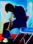 Singer Painting Metal Prints - Chet Baker Metal Print by Vel Verrept
