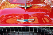 Red Cars Photo Framed Prints - Chevrolet Bel-Air - 5D16437 Framed Print by Wingsdomain Art and Photography