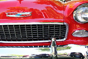Red Cars Photo Framed Prints - Chevrolet Bel-Air - 5D16438 Framed Print by Wingsdomain Art and Photography