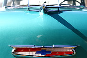 Transportation Acrylic Prints - Chevrolet Bel-Air . Blue . 7D12851 Acrylic Print by Wingsdomain Art and Photography