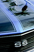 Muscle Car Framed Prints - Chevrolet Chevelle SS Grille Emblem 3 Framed Print by Jill Reger