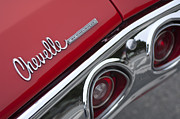 Chevelle Framed Prints - Chevrolet Chevelle SS Taillight Emblem 2 Framed Print by Jill Reger