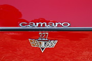 Old Cars Art - Chevrolet Chevy Camaro RS 327 Emblem 7d15530 by Wingsdomain Art and Photography