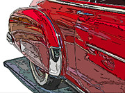 Samuel Sheats Posters - Chevrolet Fleetline Deluxe Rear Wheel Study Poster by Samuel Sheats
