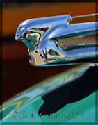 Woodies Framed Prints - Chevrolet Hood Ornament 1 Framed Print by Katja Zuske