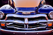 Chevrolet Pickup Truck Grille Emblem Print by Jill Reger