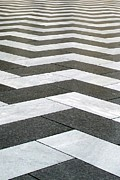 Grid Prints - Chevron  Print by Linda Woods