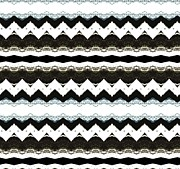 Cards Digital Art - Chevron Style by Marsha Heiken