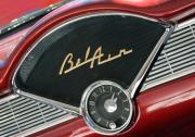 Cars Art - Chevy Bel Air Clock by Charlette Miller