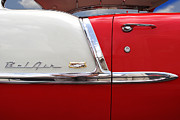 Red Chevrolet Prints - Chevy Belair Classic Trim Print by Mike McGlothlen