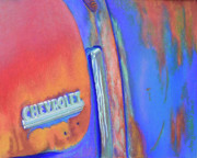 Transportation Pastels Originals - Chevy Blues by Tracy L Teeter