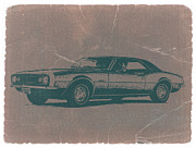 Muscle Car Prints - Chevy Camaro Print by Irina  March