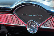 Carolyn Stagger Cokley Art - Chevy Dash Clock by Carolyn Stagger Cokley