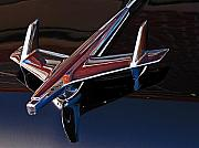 Muscle Posters - Chevy Hood Ornament Poster by Gary Adkins