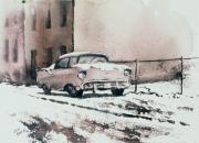 Chevy Originals - Chevy in Snow by Donald Maier