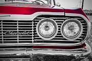 Red Impala Prints - Chevy Print by Jeff Swanson