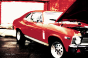 Muscle Metal Prints - Chevy Nova Metal Print by Jayne Logan