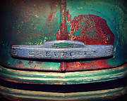 Roadster Grill Posters - Chevy Rust Poster by Perry Webster