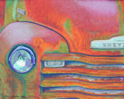 Transportation Pastels Prints - Chevy Rust Print by Tracy L Teeter