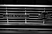 Monochrome Hot Rod Framed Prints - Chevy SS Grille Framed Print by Chalet Roome-Rigdon