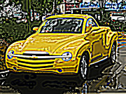 Samuel Sheats Posters - Chevy SSR Pickup Poster by Samuel Sheats
