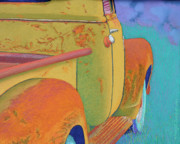 Old Trucks Pastels - Chevy Summer by Tracy L Teeter
