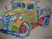 Chevy Pastels - Chevy Truck by Barbara Richert