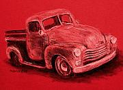 Chevrolet Truck Drawings - Chevy Truck by Michael Beckett