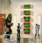 Star Prints - Chewbacca in Cloud City with Art Print by Scott Listfield