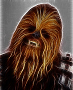 Skywalker Framed Prints - Chewbacca Framed Print by Paul Ward